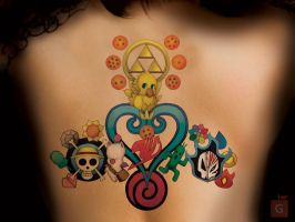 Anime Tattoo by GS _ COMM SUSSER TOD PT1 (COMM 5) by Proto-jekt