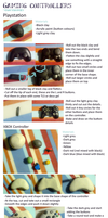 Polymer Clay : Playstation + Xbox controller by CraftCandies