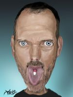 dr house caricature by troeks