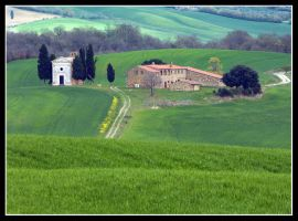 Little Church in Tuscany Landscape by kanes