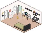 Isometric Room Practice by LittleParade