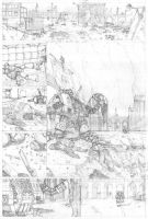 The Duel - pencils 1 by shaungardiner