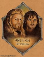 Fili and Kili - Heirs of Durin by SvenjaLiv