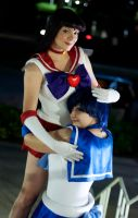 Fire and Water - Sailor Mars and Mercury Cosplay by Kapalaka