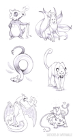 Pokemon Sketches by DaffoDille