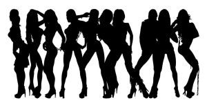 Stripper Girl Silhouettes 5 by egoform