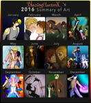 Art Summary 2016 by BlazingFlareonX