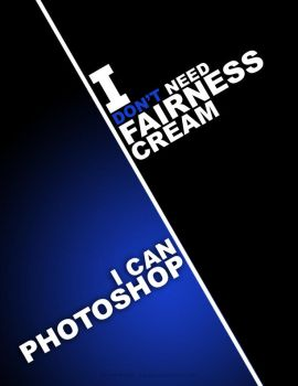 PHOTOSHOP vs FAIRNESS CREAM by inkrush