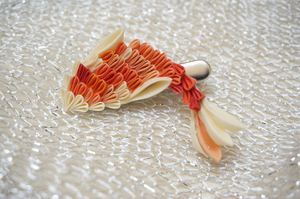 Koi (Carp) Silk Kanzashi 293 by japanesesilkflowers