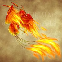 Endless Realms bestiary - Phoenix by jocarra