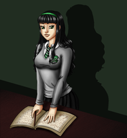 Slytherin student by Auriaslayer