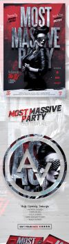 Most Massive Party Flyer Template by amorjesu