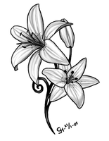 Lily Tattoo by Black-petal