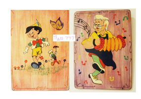 Pinocchio and Geppetto the dance goes on.. by nev777