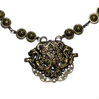 Industrial Dragon Necklace by CatherinetteRings