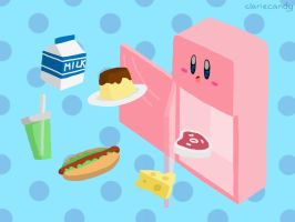 Refrigerator Kirby by clariecandy