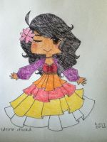 latino chicka chibi by Ghettobus