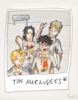 The Marauders in Hogsmeade by Teensy