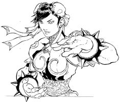 Chun-Li Ink by ShaneLongshadow