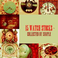 WATCHES STOCK PACK 8 - Collected by Simple by simpleelements