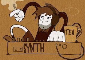 Synth, Tea and Cigarettes by the-dumb-waiter