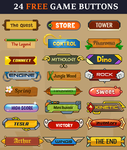24 Free Game Buttons by pixaroma