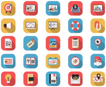 Flat Icons - SEO AND Web Icons by CURSORCH