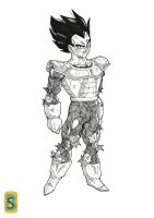 Damaged Vegeta by bloodsplach