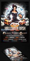 Halloween Bash Flyer Template by saltshaker911