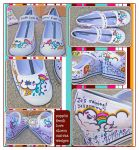 Poppin Fresh Love Storm Shoes by marywinkler