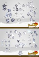 Pip Character Sheet roughs by RedPaints