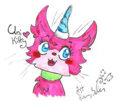 1st Lego Movie scribble Unikitty by Kittychan2005