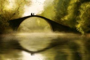 Fishing Early Together - Speed Painting by Astarsia
