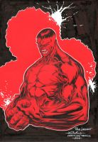 Red Hulk - Comic Con France by SpiderGuile