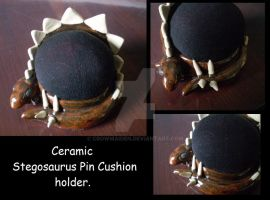 Pin cushion dinosaur by CrowMaiden