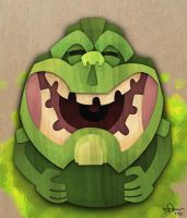 Tiki Slimer by WonderDookie