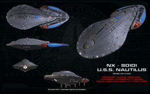 Magellan Class ortho - USS Nautilus by unusualsuspex