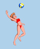 Beach volleyball by psybustermk2