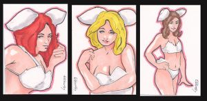 Bunny sketch card set by TeamAmazing