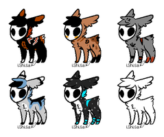 skull fuzzy adopts -OPEN- by AwkwardWox