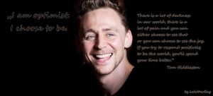 Tom Hiddleston - I am optimist - Facebook cover by LuluDarling