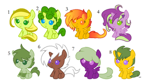 Fruit Foal Pony Adopts [CLOSED] by Icicle212