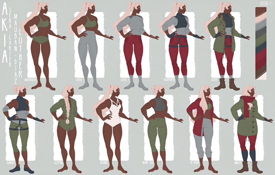 [Out of The Hunt] Akia Luther's Wardrobe by Qursidae