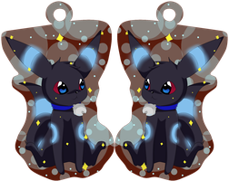 _+_special shiny Umbreon key ring pendant_+_ by katze-des-grauens