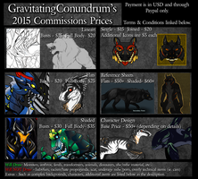 Commission Prices 2015 by GravitatingConundrum