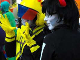 Homestuck Photoshoot AAC'12 - The Cutest Moirails by FeverishRainbow
