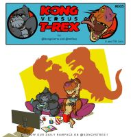 Kong VS T-Rex 005 by BongzBerry