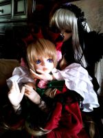 Suigintou and Shinku BJD - You lose, Shinku by AngyValentine
