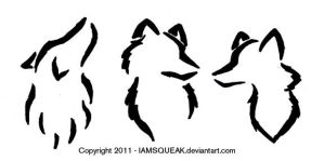 Sharpie Tattoo Wolves by IAMSQUEAK