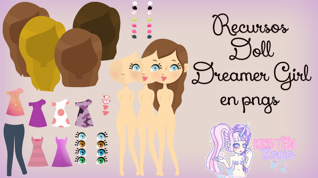 Recursos Doll Dreamer Girl en Pngs by RoohEditions